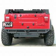 Olympic 4x4 Products A/T Slider Rear Bumper (Black) - 153-121