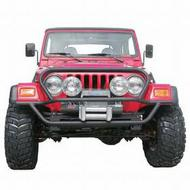 Olympic 4x4 Products A/T Slider Front Bumper with Hood Protection (Black) - 172-121