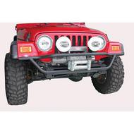 Olympic 4x4 Products A/T Slider Front Tube Bumper in Gloss Black (Black) - 174-121