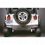 Olympic 4x4 Products Rear 57 Inch Rock Bumper with Receiver in Textured Black (Black) - 553-124