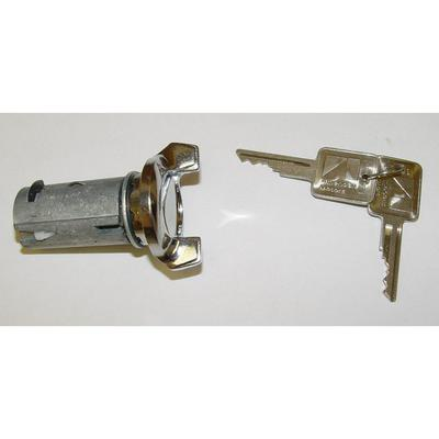 Omix-ADA Ignition Lock Cylinder and Key (Chrome) - 17250.03 17250.03