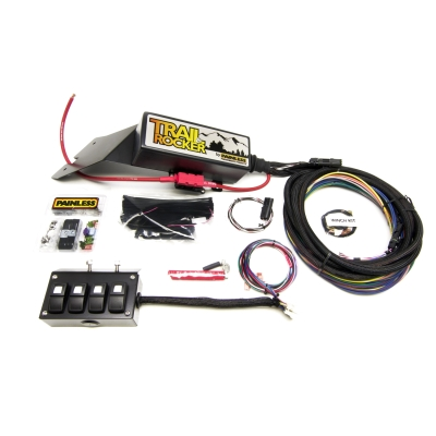 painless wiring trail rocker under dash accessory control system 4 rh 4wd com Painless Wiring Company Painless Performance Wiring