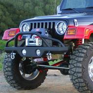 Rampage Recovery Front Bumper with Stinger (Black) - 76510R