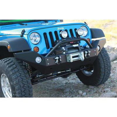 Rock Hard 4x4 Parts Full Width Front Bumper with Flat Deck Winch Mount (Black) - RH-5006