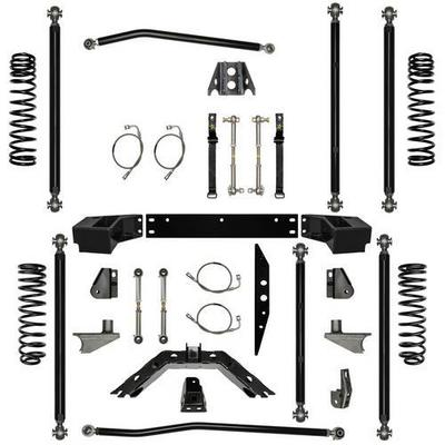 Rock Krawler 3.5 Inch Off-Road Pro Long Arm System with 6 Inch Rear Stretch - JK35ORP-6S