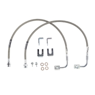 Rubicon Express 24 Inch Front Brake Line Set, Stainless Steel, Lifted Height of 4 in. to 6 in. - RE15302