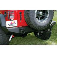 Rugged Ridge Rear Modular XHD Bumper with D-rings Mounts (Black) - 11546.20