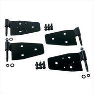 Rugged Ridge Half Door Hinge Set (Black Stainless Steel) - 11202.01