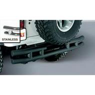 Rugged Ridge Dual Tube Rear Bumper without Hitch (Stainless Steel) - 11573.03