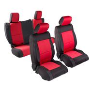 Smittybilt Neoprene Front and Rear Seat Cover Kit (Black/Red) - 471730