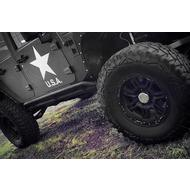 Smittybilt Rock Crawler Rocker Guards (Black) - 76644