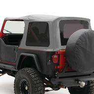 Smittybilt Replacement Soft Top with Tinted Windows and Door Uppers (Charcoal Gray) - 9870211