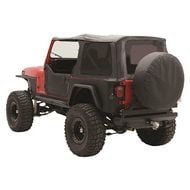 Smittybilt Replacement Soft Top with Tinted Windows and Door Uppers (Black Denim) - 9870215